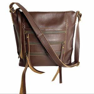 🍀 🆕 Lucky Brand Leather Adjustable Crossbody